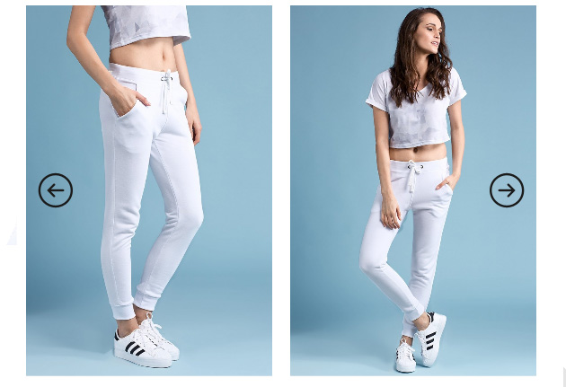 Pantaloni dama albi de trening Answear Pantaloni FLOW