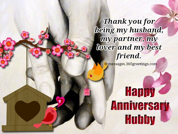Happy anniversary wishes for husband with unique messages