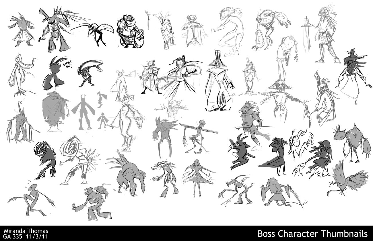 Miranda Thomas: Yeti Monster Design