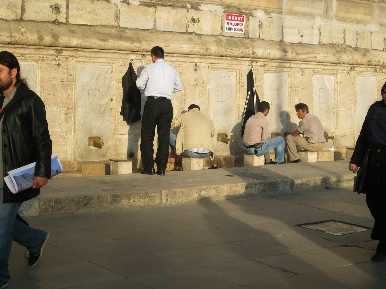 Istanbul - This isn't at the Blue Mosque but muslims wash their hands and feet prior to entering a mosque
