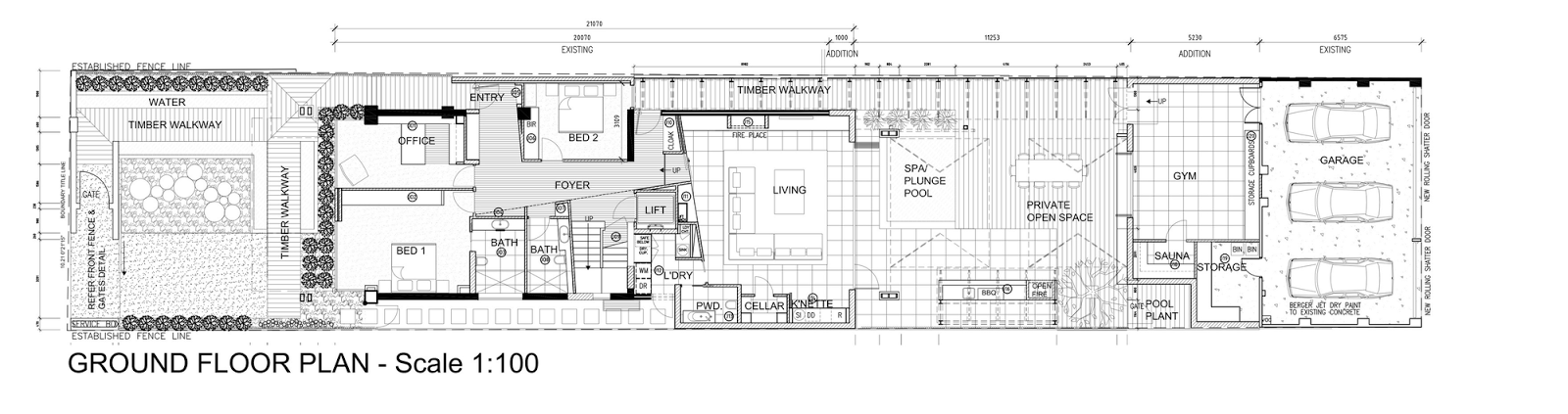 Ground floor plan by Finnis Architects
