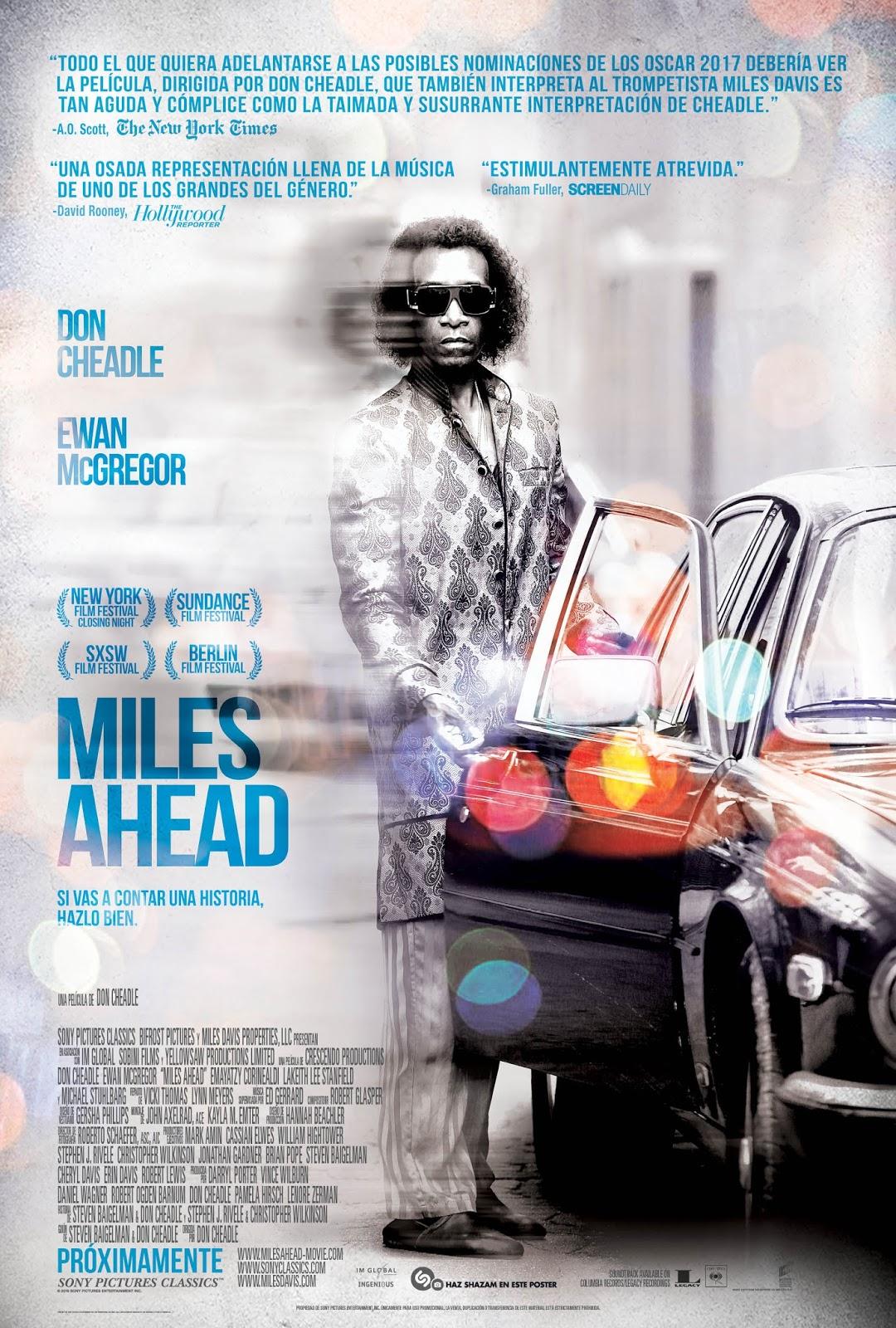 Póster español de 'Miles Ahead', que llegará a los cines este verano