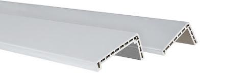 Conjunto de vistas em PVC para portas brancas