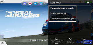Samsung Game Tools opcje w grach