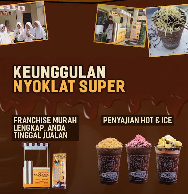 Keunggulan Franchise Minuman Coklat, Waralaba Minuman, Nyoklat, Nyoklat Super
