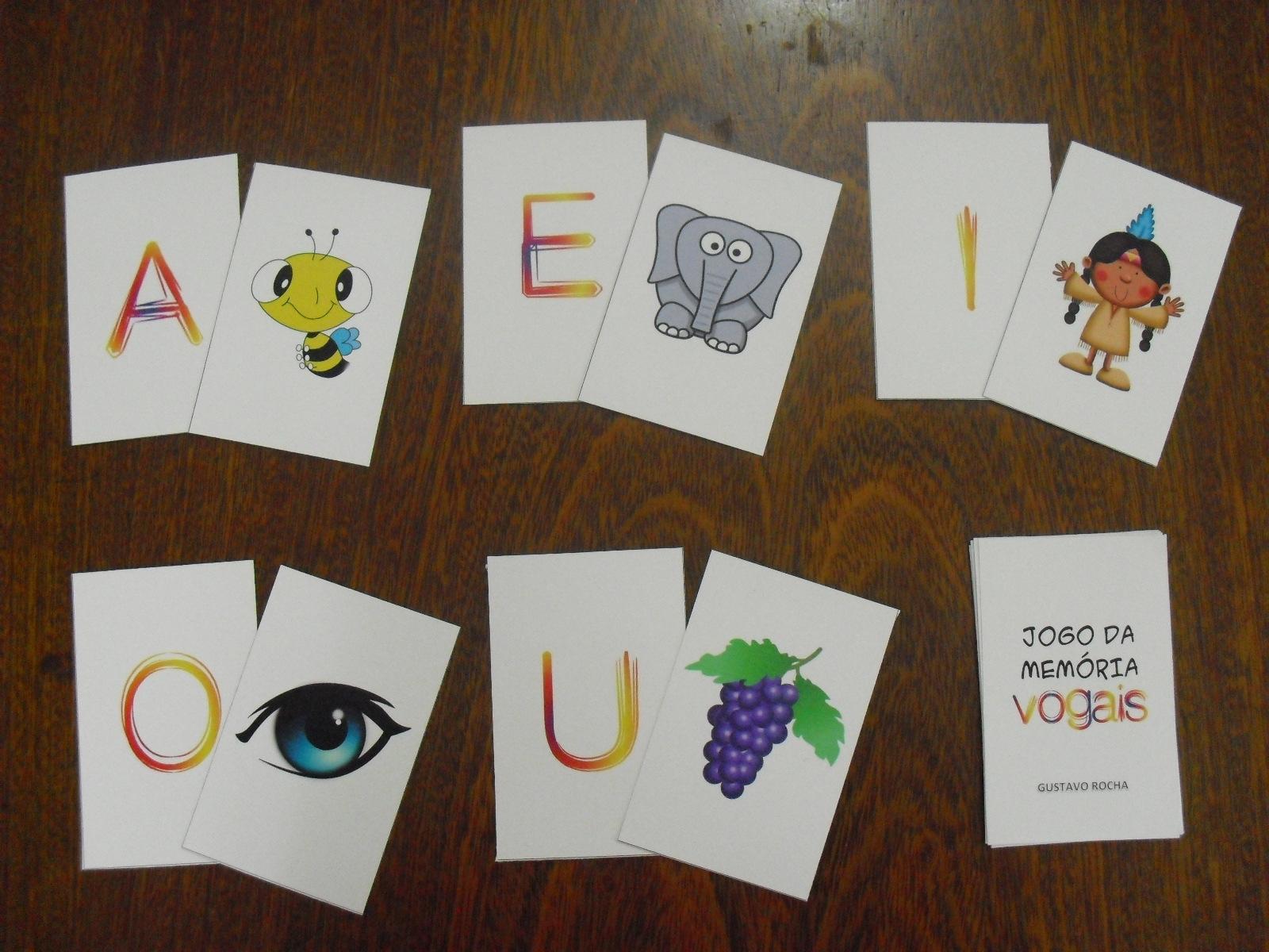 Jogo Da Memoria Vogais Sabrina Blog