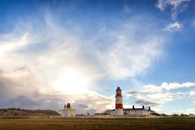 National Trust owned Souter Lighthouse at Marsden in South Shields