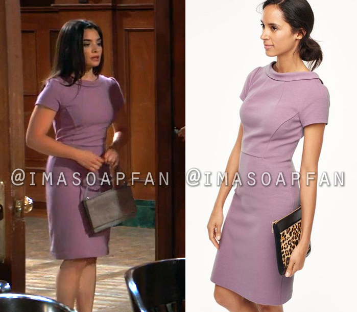 Francesca Cavallo, Celesta DeAstis, Light Purple Sheath Dress, General Hospital, GH