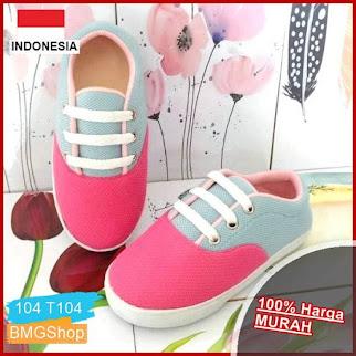 T104 Sepatu Perempuan Anak Motif Tali BMGShop