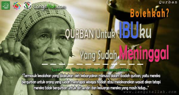 Bolehkah Qurban Untuk Orang Yang Sudah Meninggal