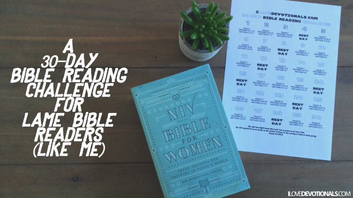 30 Day bible reading challenge printable