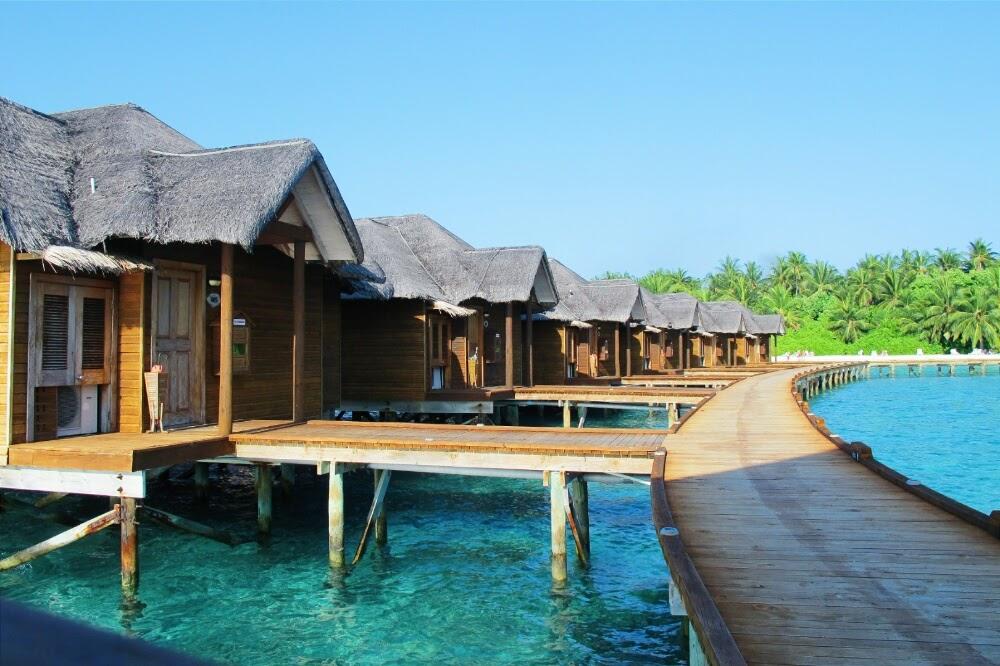overwater bungalows fihalhohi maldives