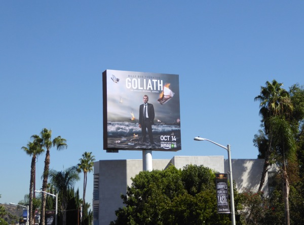 Goliath series launch billboard