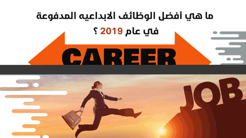 ما هي أفضل الوظائف الابداعيه المدفوعة في عام 2019 ؟