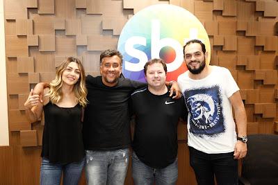 Marlei, Maurício, Porpetone e Matheus (Crédito: Gabriel Cardoso/SBT)