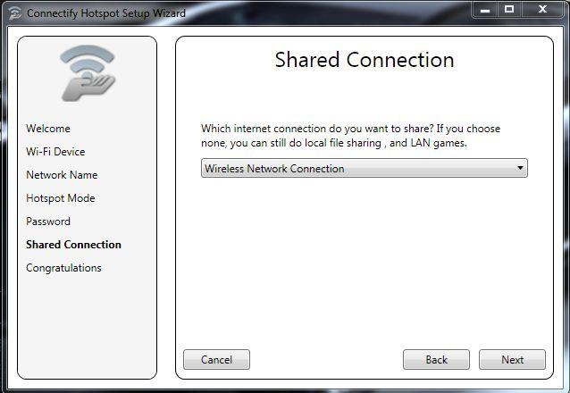 konfigurasi connectify 6