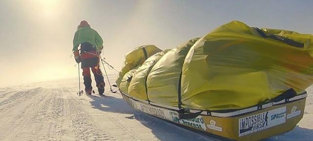 Απίστευτο: Διέσχισε ολομόναχος την Ανταρκτική (βίντεο)