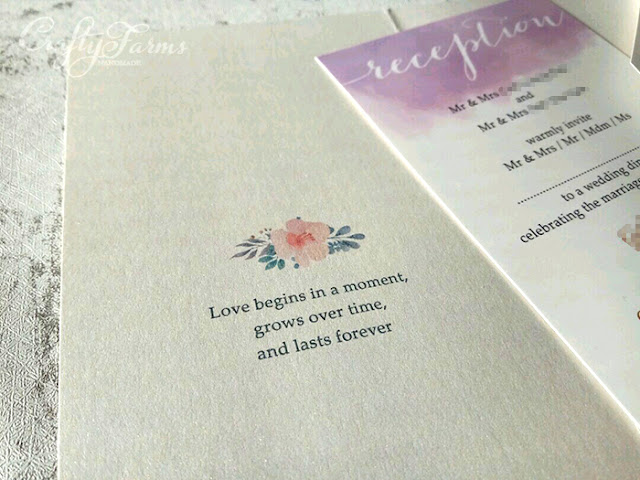 Lavender Purple Floral Pocket invitation cards Kuala Lumpur
