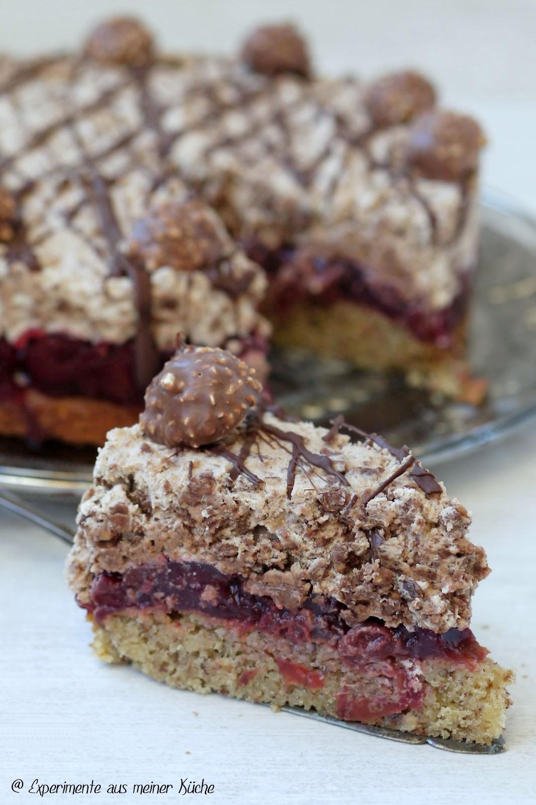 aus meiner Küche: Rocher-Kirsch-Torte