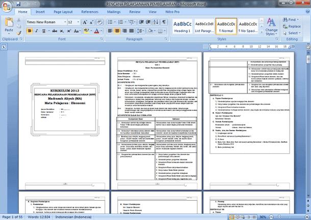 RPP Silabus Prota Promes Ekonomi SMA MA Kelas X (10) Kurikulum 2013