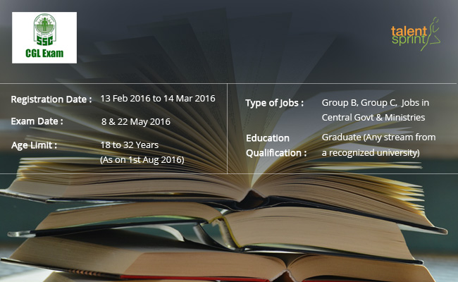 SSC CGL Exam 2016 Notification