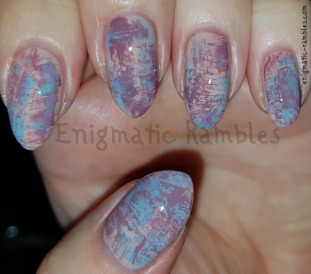 Purple-Blue-Dry-Brush-Nails