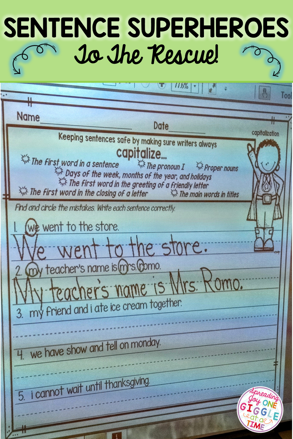 Find out how i get my students to use capitalization and capitalization and punctuation practice activities and anchor charts to use with your students kristyandbryce Image collections
