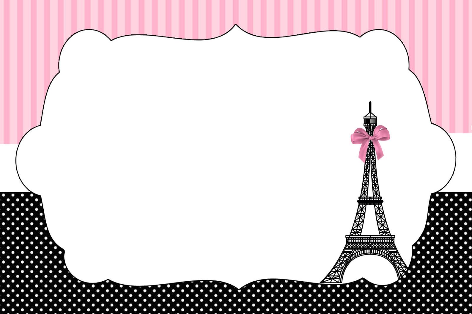 Kit Festa Paris Preto E Rosa Montando Minha Festa