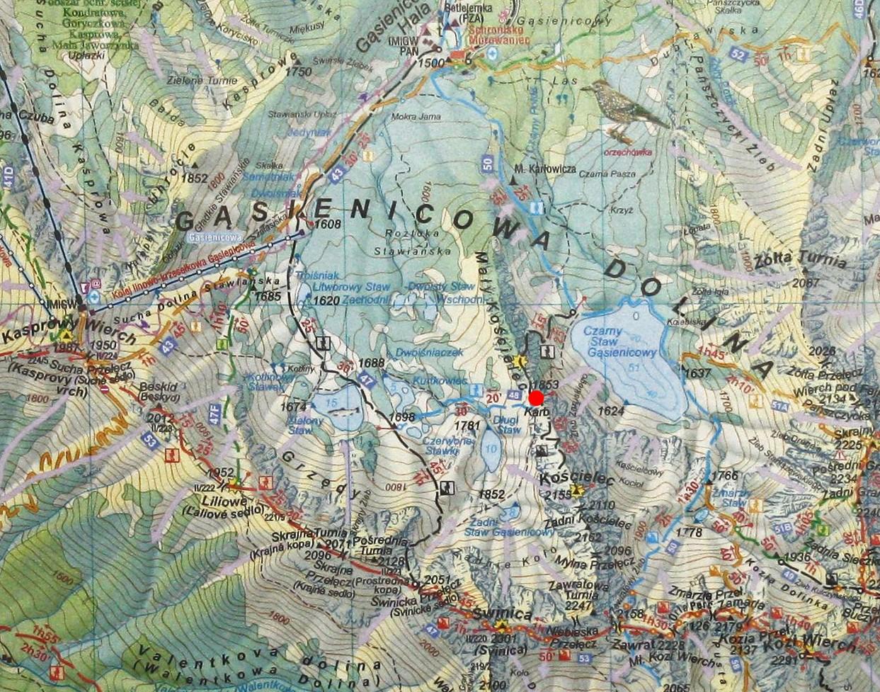 Karb na mapie