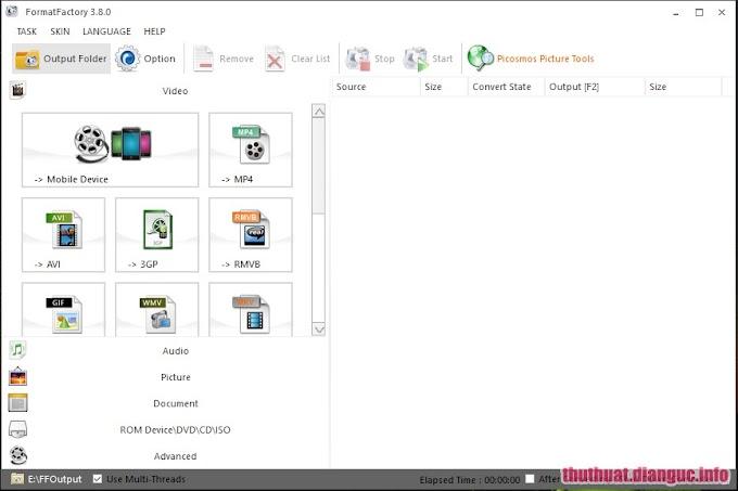 Download Format Factory 3.8 full - Phần mềm chuyển đổi đa định dạng