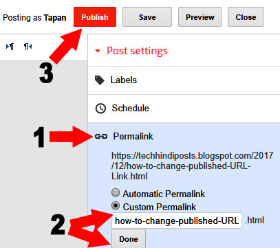 how to use custom permalink for seo