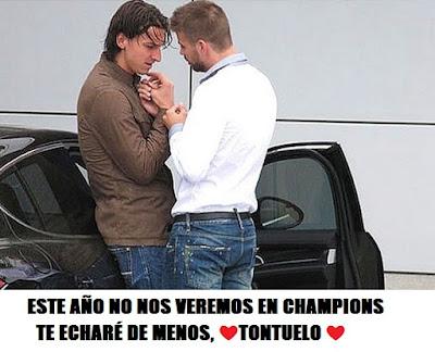 memes pique zlatan champions tontuelo