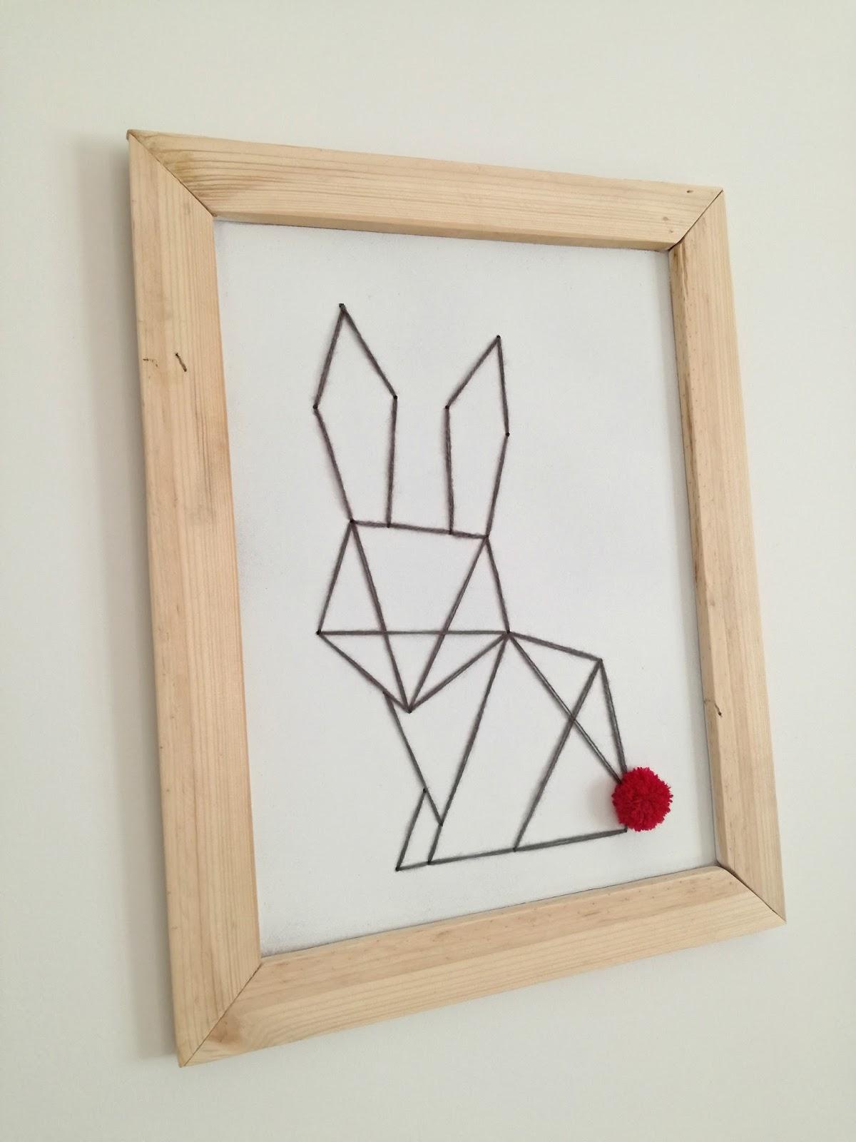 d co de p ques cadre lapin origami truc tricks. Black Bedroom Furniture Sets. Home Design Ideas