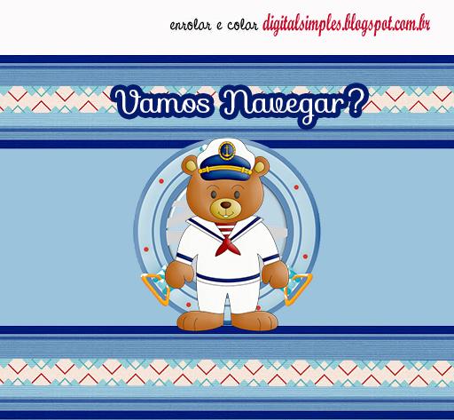 Etiquetas de Oso Marinerito para imprimir gratis.