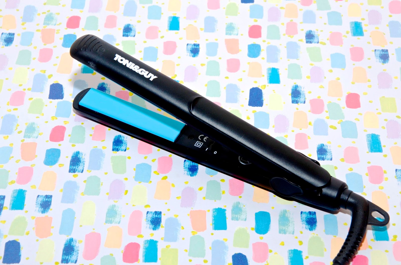 blue travel flat iron hair straightener