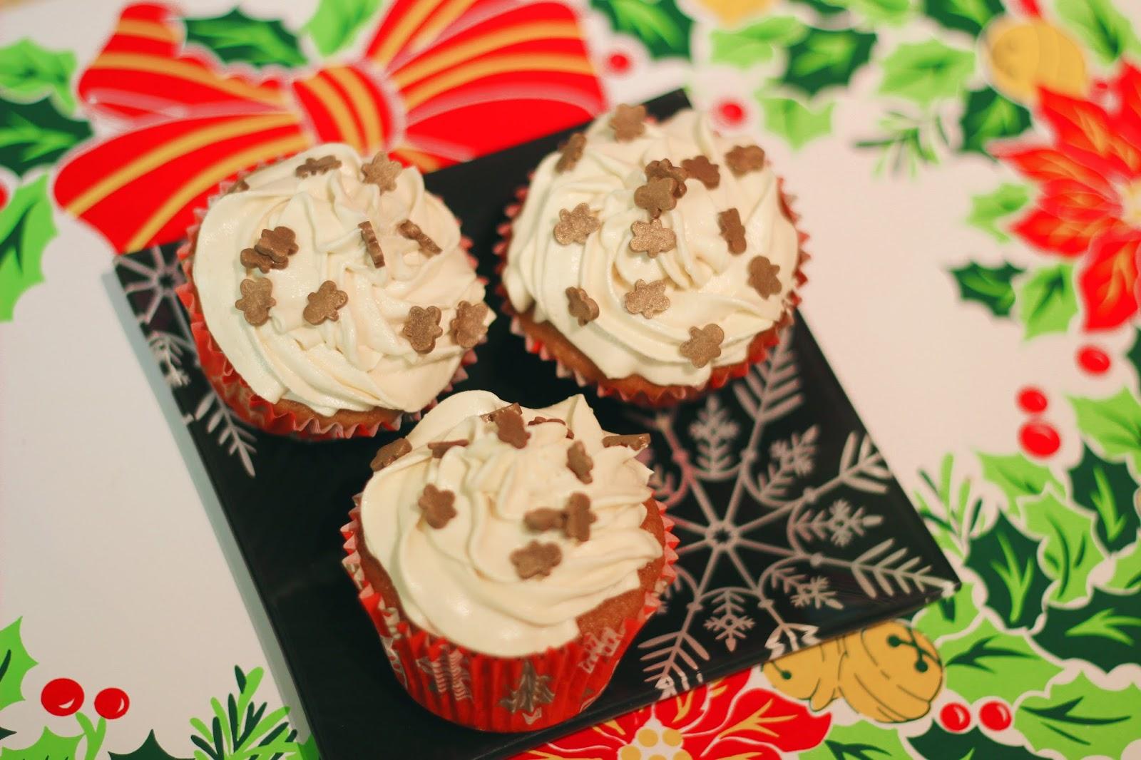 Katrina Frances: Gingerbread Cupcakes with Salted Caramel ...