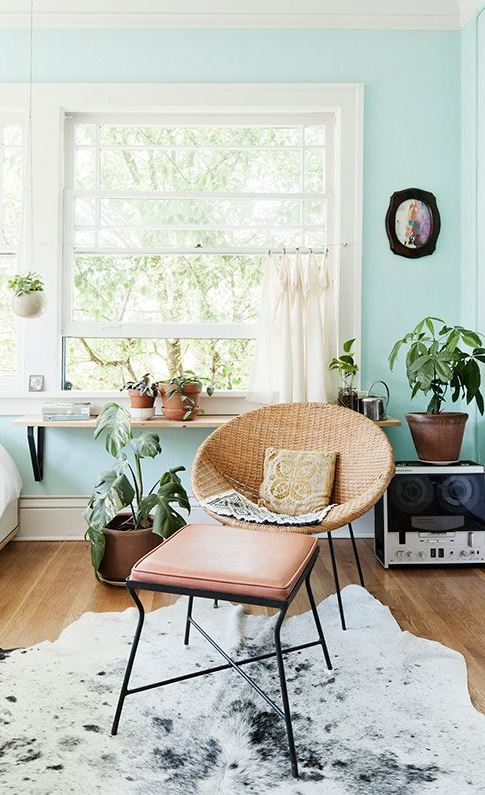 mint living room decoration idea