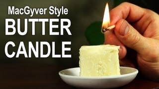 Як зробити свічку з масла?