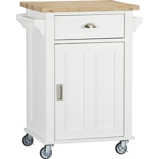 Tiny Kitchen White Butcher Block