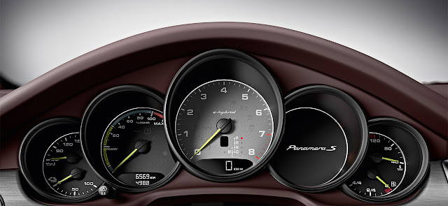 Porsche Panamera with Plug-in Hybrid drive dash