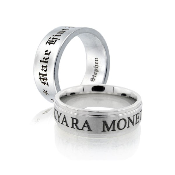 Laser Engraving Service For Your Wedding Ring And Band