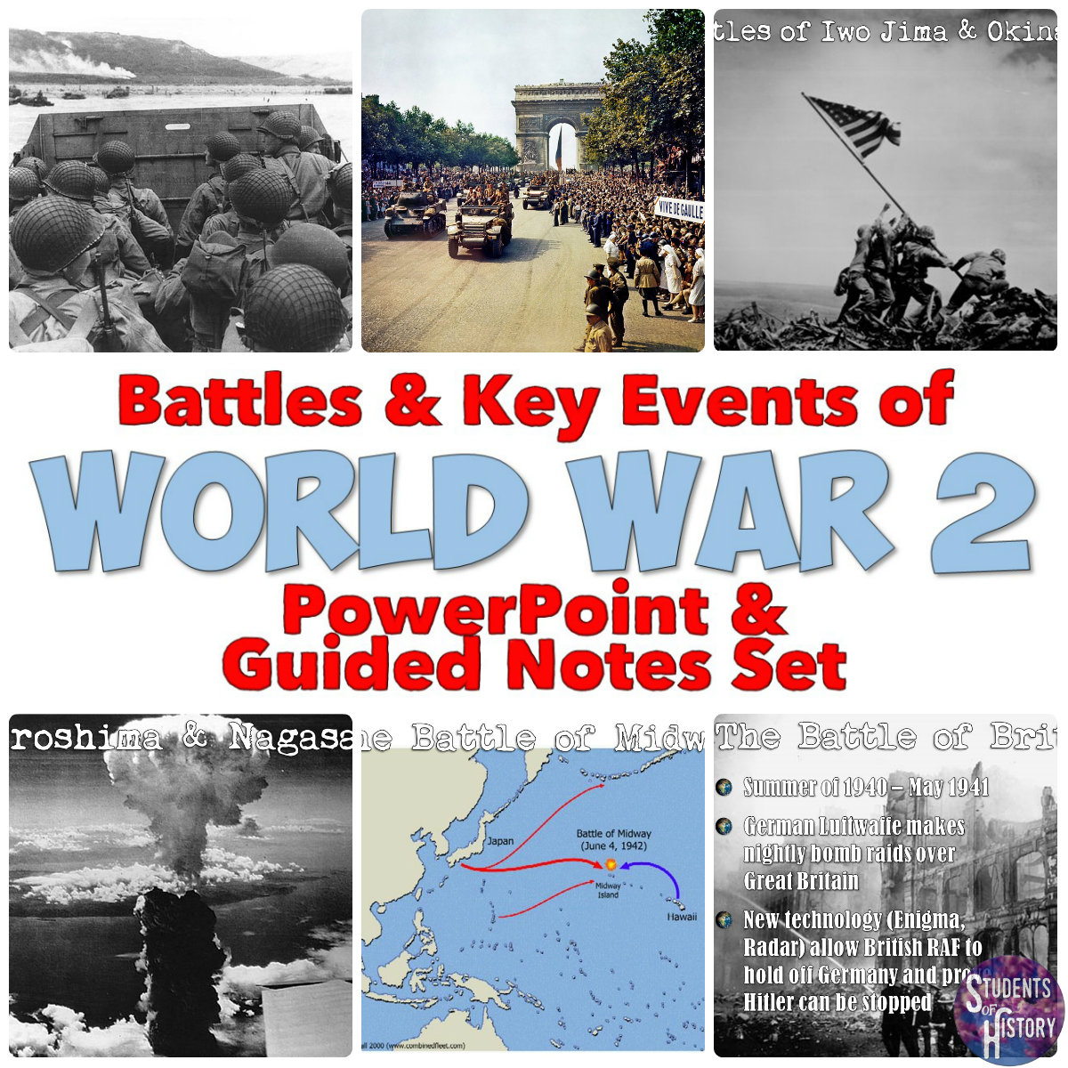 Students Of History World War 2 Powerpoint Amp Printable