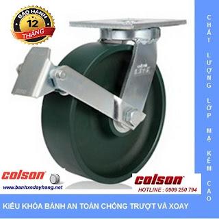Giá bánh xe đẩy chịu tải trọng cao có khóa Colson Caster Mỹ www.banhxedayhang.net