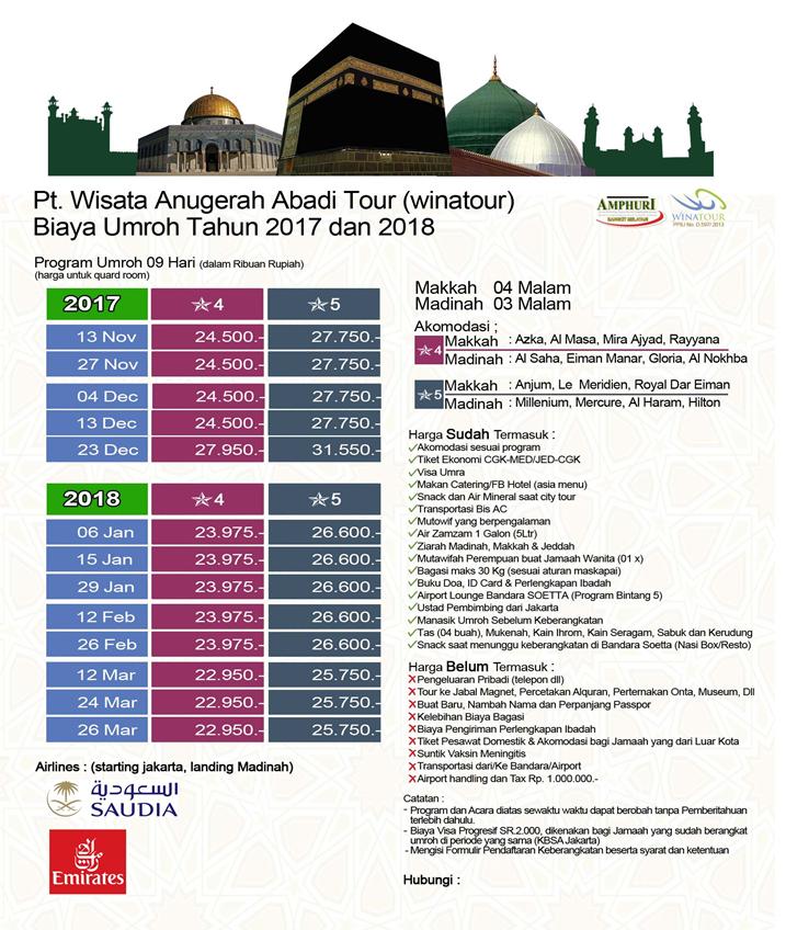 Jadwal Paket Umroh Maret 2018