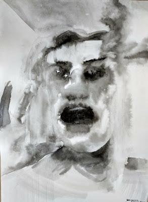retrato tinta china Benjamin Vilella Elena