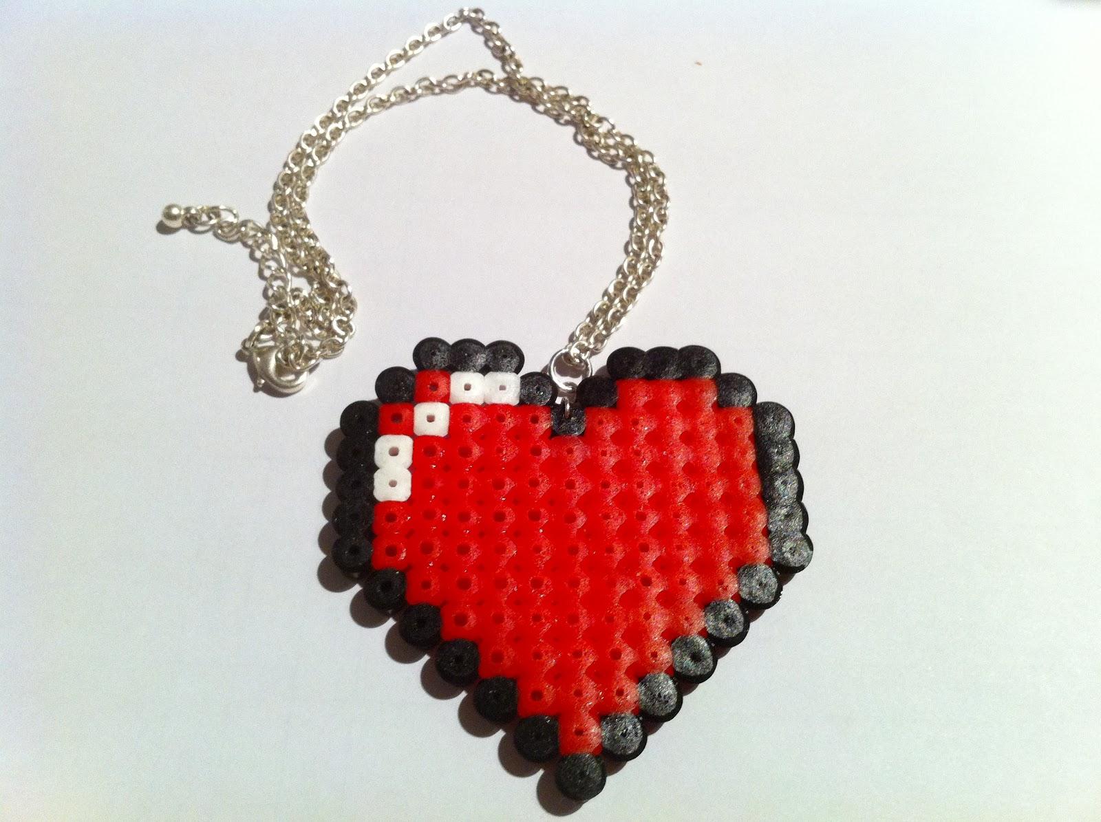 Max California Tutorial Perler Hama Beads Pixel Heart