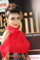 Apoorva in a Stunning Tight Leg Split Sleeveless Red Gown at IIFA Utsavam Awards 18.JPG