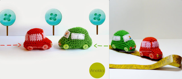 coches de carreras handmade crochet
