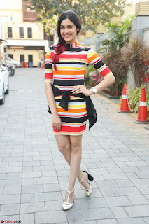 Adha Sharma in a Cute Colorful Jumpsuit Styled By Manasi Aggarwal Promoting movie Commando 2 (72).JPG