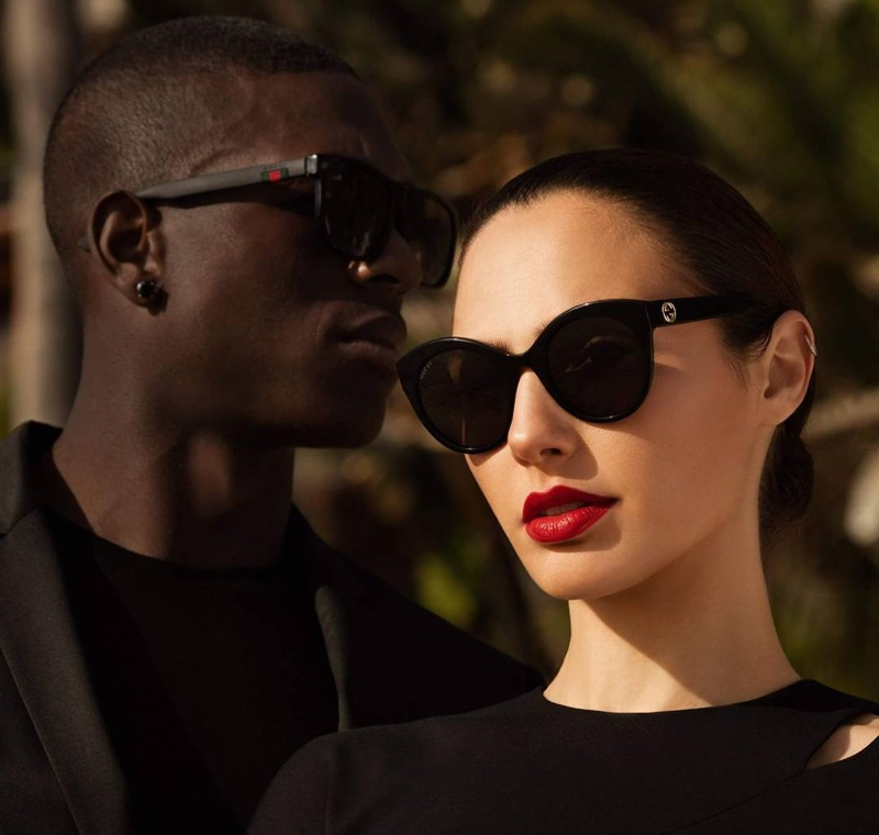 Gal Gadot wears Gucci sunglasses for the campaign